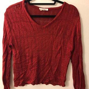 Deep red JJ Basics sweater size M
